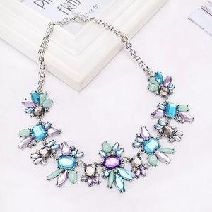 🆕Beautiful crystal rhinestone statement necklace